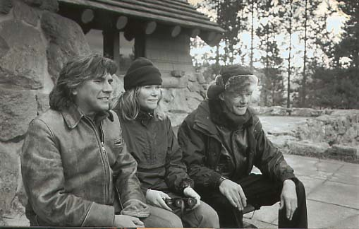 Ron, Karen, and Richard in Yellowstone