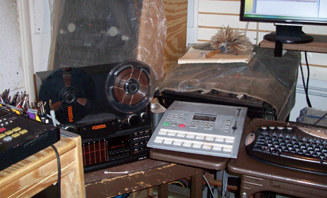 The studio back in the cassette years